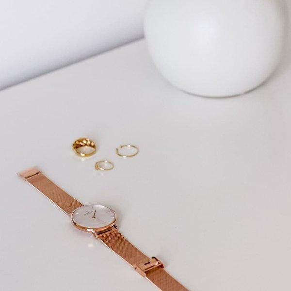 Native 玫瑰金表带手表