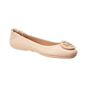 Tory BurchMinnie Travel Leather Ballet Flat
