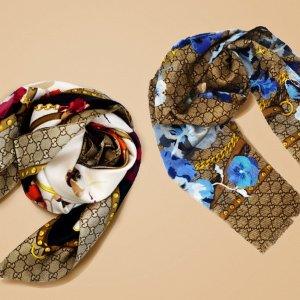 额外8折独家:Gucci 经典GG围巾热卖  初秋穿搭必备