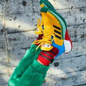 €18起收LEGO x adidas 联名服饰、鞋履热卖 五彩斑斓亮点十足
