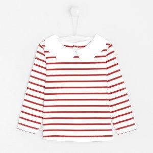 JacadiToddler girl sailor shirt with double petal collar