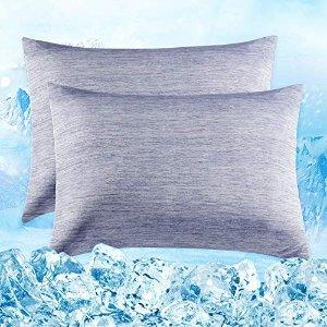 40 x 80 cm 2个 蓝色枕套