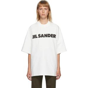 Jil Sander白色logoT恤 女款