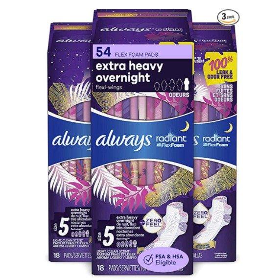 Radiant 液体卫生巾 夜用超长款 54片