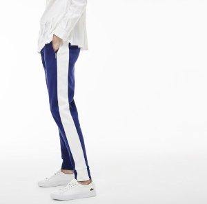 LACOSTE 蓝色校服裤