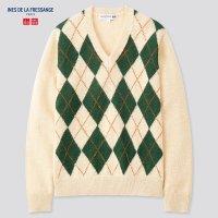 Uniqlo IDLF合作款 格纹毛衣