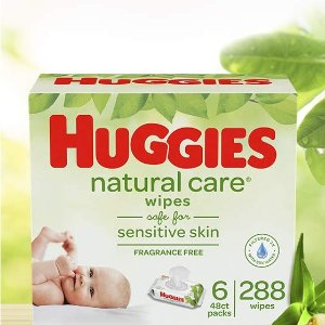 $7.54HUGGIES 无香型宝宝湿巾,6袋共288抽