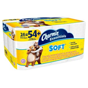$9.97Charmin Essentials Soft Toilet Paper (24 Giant Rolls)