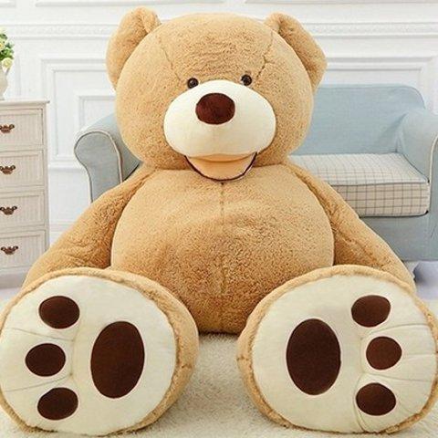 低至3.3折 €34.99起超大泰迪熊出没 三个size四色可选 可抱可靠可躺