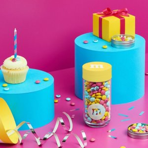 无门槛8折+冰袋包装邮寄M&M官网 生日主题可个性化定制巧克力促销