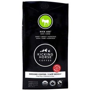 $6.15 额外$2折扣+免邮Kicking Horse 咖啡 Kick Ass 深度烘焙咖啡粉 10oz