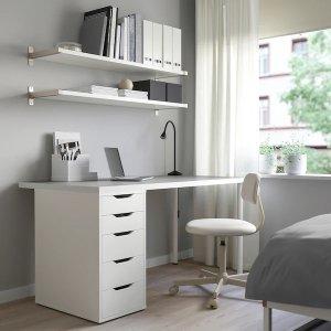 IkeaLINNMON 收纳柜写字台