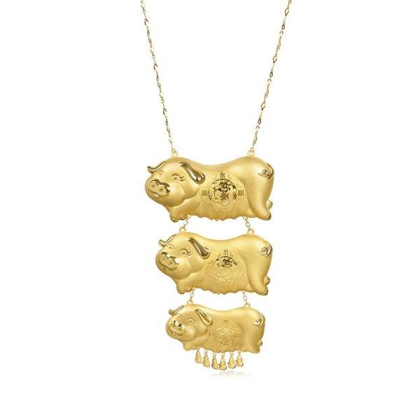 金猪黄金项链