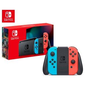 NintendoSwitch 游戏主机 2019款长续航版 红蓝