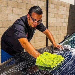 $5 Chemical Guys MIC_493 Chenille Microfiber Premium Scratch-Free Wash Mitt, Lime Green