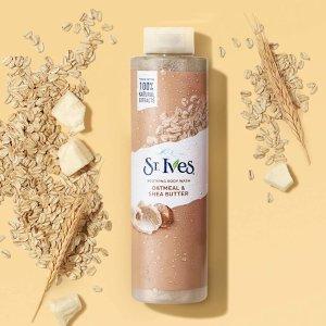 $2.99(原价$4.97)St. Ives  燕麦沐浴露650ml 秋冬滋润 顺滑保湿 温和去污