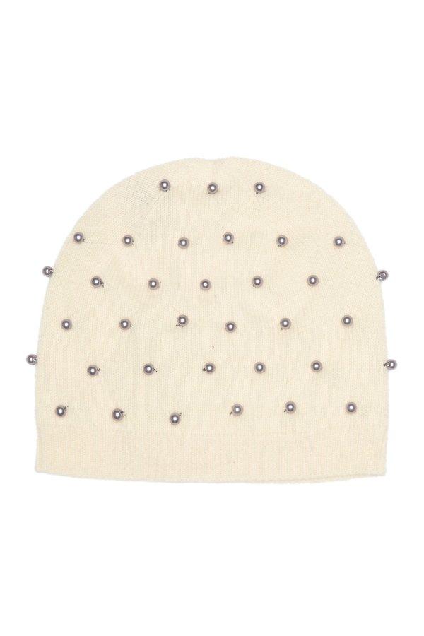 Pearl Trim 羊绒帽