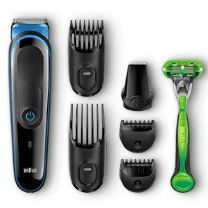 $24Braun Multi Grooming Kit MGK3040 – 7-in-1 Hair / Beard Trimmer for Men + Gillette Body Razor