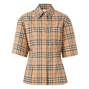 Burberry热门款收腰格纹衬衫