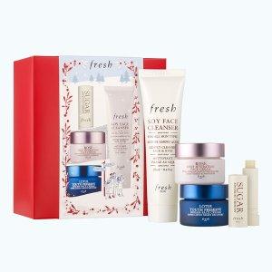 Fresh价值£54洁面+面霜+唇膏套装