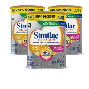 最高立减$30+额外9.5折+包邮Similac 婴幼儿非转基因配方奶粉特卖 手慢无