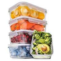 Prep Naturals 玻璃保鲜盒、午餐盒,30oz,5只