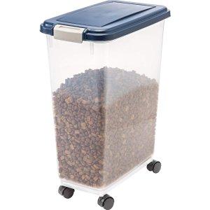 $14.99IRIS 带滚轮粮食储存盒 可装25磅猫粮狗粮 也能装大米