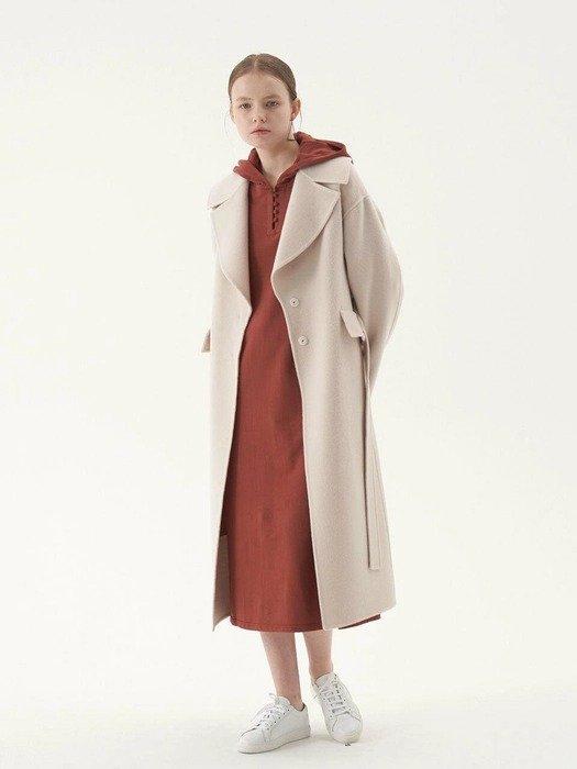 砖红色长款卫衣