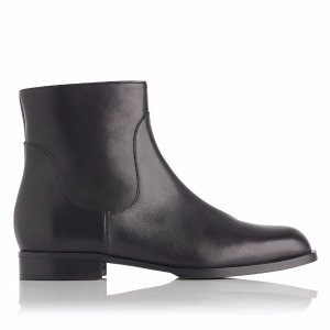 Loti Black Leather Ankle Boot