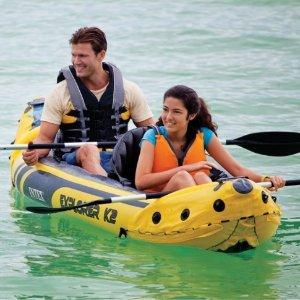 $58.99限今天:Intex Explorer K2 双人充气皮艇套装