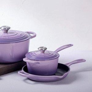 $299起 颜值与实力并存Le Creuset 铸铁锅稀缺紫色系列 高温耐热