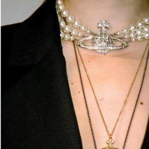 8.5折!项链£72 耳钉£63Vivienne Westwood 秋季大促 入小土星、水钻、Logo手链等