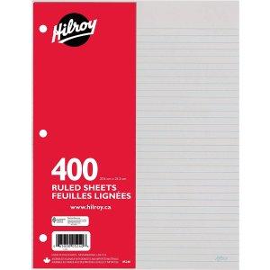 $0.97 (原价$12.84 )Hilroy 3孔活页纸400张  写字画画随便用
