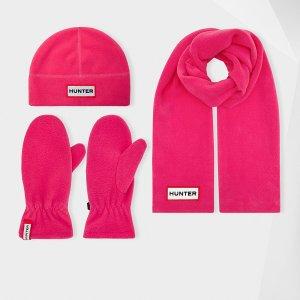 Hunter冬季玫红色儿童围巾