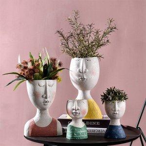 The Apollo Box Artistic Face Flower Pot