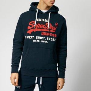 SuperdryMen's Sweatshirt Shop Duo Hoody - Eclipse Navy