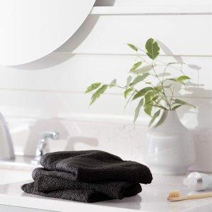 $4.79收12条AmazonBasics 防褪色100%纯棉小毛巾 12条