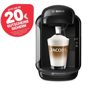 原价109.99€,折后29.99€+返20欧代金券学生党必备 Bosch Tassimo Vivy2 全自动胶囊咖啡机 送咖啡胶囊2包