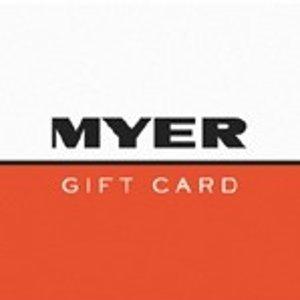 9.1折即将截止:Myer 电子礼卡 满$100返$10