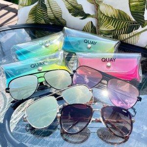 低至2折+额外8折Quay Australia 精选时尚墨镜、眼镜大促 眼镜$8起