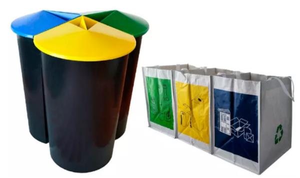 分类垃圾桶+3个分类垃圾袋