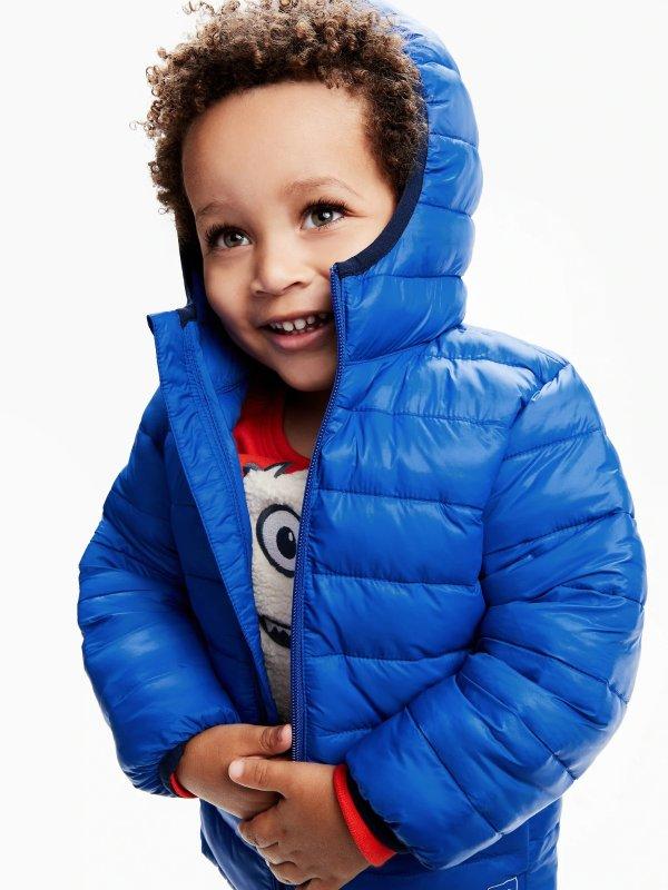 婴儿、小童轻质保暖外套
