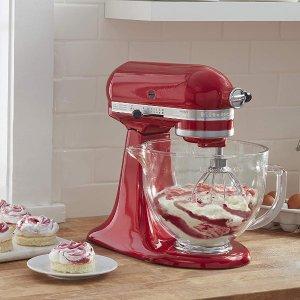 $314.1(原价$649)限今天:KitchenAid Artisan系列5夸脱立式搅拌机/厨师机