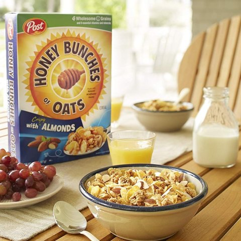 $2.33 + Free ShippingHoney Bunches of Oats with Crispy Almonds Cereal 18 oz.