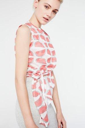 Cubic Tie-Side Watermelon Print Top