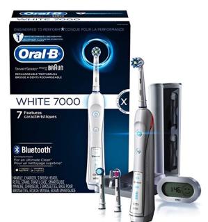 $119.89(原价$180.22)Oral B 7000智能电动牙刷带无线蓝牙功能