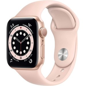AppleWatch Series 6 (GPS, 40mm) - Gold Aluminium Case with Pink Sand Sport Band