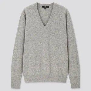 Uniqlo100% V领羊绒衫