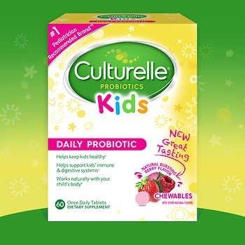 儿童益生菌咀嚼片,草莓味, 60片