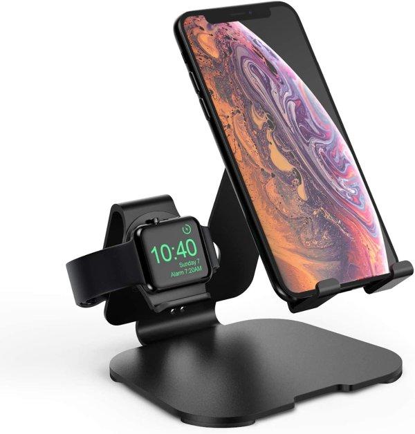HoRiMe 铝合金 2合1苹果手表+手机充电支架
